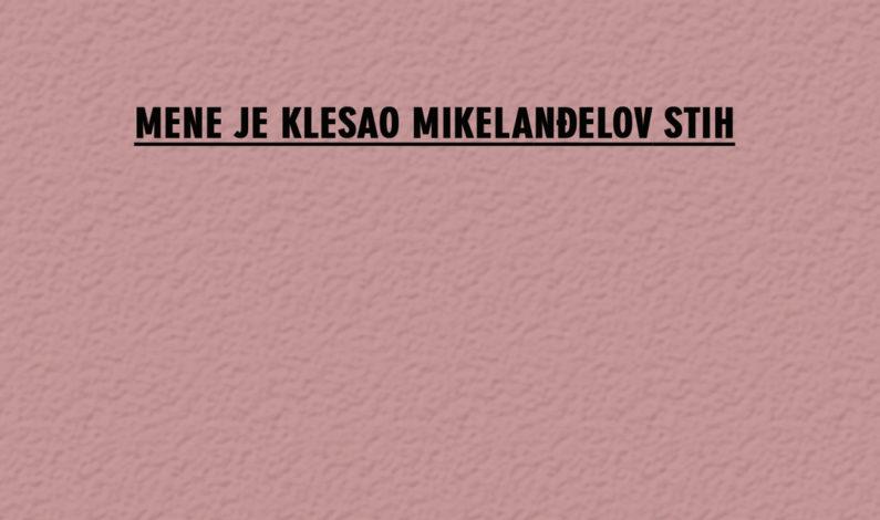 Jasmina Šuša – Mene je klesao Mikelanđelov stih